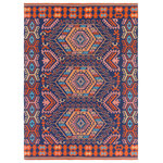 Surya - Surya Sajal SAJ-1060 Indoor/Outdoor Area Rug, Navy, 4' x 6' Rectangle - The India inspired Surya Sajal SAJ-1060 Indoor / Outdoor Area Rug is made from 100% PET Yarn in a No Pile and is available in several sizes of high-quality, fashionable Accent Rugs, Runners and Area Rugs for an upscale feel to your home.