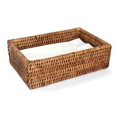 Rattan Dinner Napkin Baskets, Set of 2