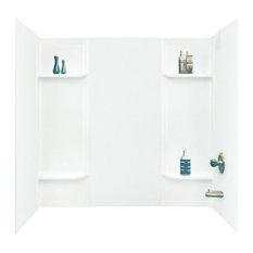 "Mustee Bathtub Surround 60""x30""x58"", White"