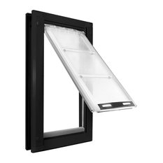 "Endura Flap Pet Door, Door Mount, Extra Large Single Flap, Black Frame, 12""x23"""