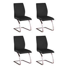 Curving-Base Side Chair (Set Of 4) - Black