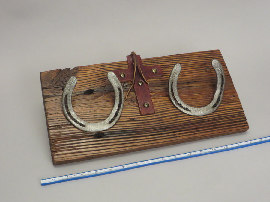 #R15089 Reclaimed Lumber, Horse Shoes, Tack Leather