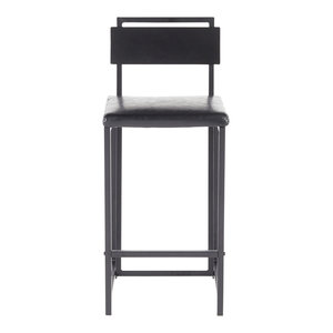 Phenomenal Gia Counter Stool Black Metal With Black Faux Leather Set Andrewgaddart Wooden Chair Designs For Living Room Andrewgaddartcom
