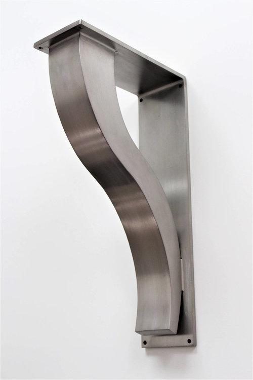Stainless Steel Bar Brackets, Modern Shelf Bracket ...