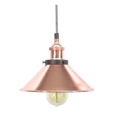 Chevron Copper Shade Pendant Light