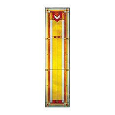 Arts and Crafts Tall Prairie Window Art Glass Panel 9