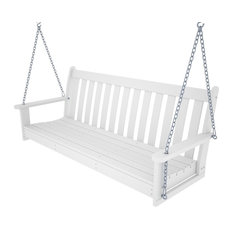 "POLYWOOD Vineyard 60"" Swing, White"