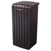 Keter Copenhagen 30 Gallon Wood Style Outdoor Trash Bin
