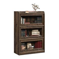 Sauder - Barrister Lane Bookcase, Iron Oak - Bookcases