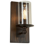 Artcraft Lighting - Legno Rustico 1-Light Brunito Wall Bracket - The Legno Rustico, which means rustic wood in Italian, is made of 100% pine and comes in two finishes of wood and plating. Dark Pine with Brunito plating or light pine with Burnished brass plating. This is hand made in North America with pride.