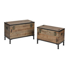 Elk Transitional Polo Storage Set Of 2 Chests 3238-001/S2