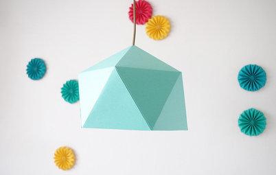 Hazlo tú mismo: Monta de forma sencilla una lámpara de origami