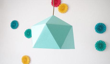 DIY : Fabriquez vous-même un abat-jour en origami