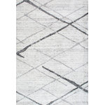 nuLOOM - nuLOOM Thigpen Striped Contemporary Area Rug, Gray, 9'x12' - Made from the finest materials in the world and with the uttermost care, our rugs are a great addition to your home. Features Style: Solid & Striped, Contemporary Material: 100% Polypropylene Weave: Machine Made Origin: Turkey Note: All rug sizes are approximate. Due to the difference of monitor colors, some rug colors may vary slightly. We try to represent all rug colors accurately.