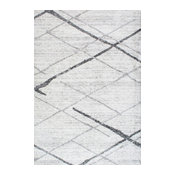 nuLOOM Thigpen Striped Contemporary Area Rug, Gray, 9'x12'