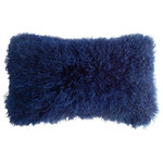 """Fibre by Auskin - Tibetan Lambskin 11""""x22"""" Cushion, Cornsilk - Tibetan lambskin cushions are the epitome of luxury. Soft and textural, these cushions are an amazing accent to any room of your home. Backed with a cotton velvet fabric with a zipper and filled with a polyester insert."""