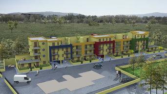 Progetto di una palazzina a schiera, composta da n.23 appartamenti