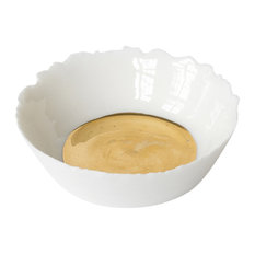 Flat Gold Porcelain Bowl