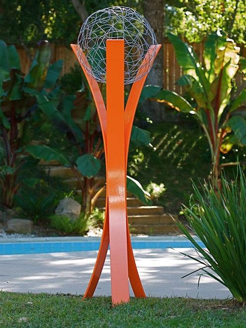 TerraSculpture   Garden Statues And Yard Art. Powdercoated Steel  Modern Outdoor Sculpture