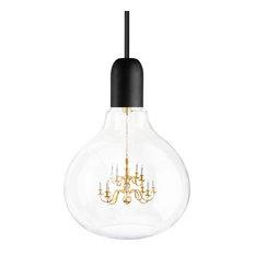 Large King Edison Pendant Lamp, Black