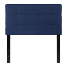 Offex Bedford Tufted Upholstered Twin Size Headboard Navy Fabric