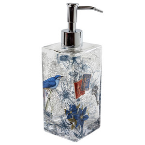 Bluebirds Countertop Soap Dispenser