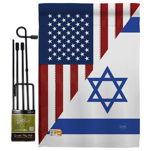 Us Israel Friendship Gf Flags Of The World Garden Flag Contemporary Flags And Flagpoles By Breeze Decor
