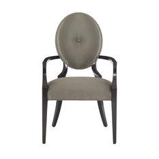 Bernhardt Jet Set Arm Chair Caviar Finish