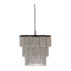 Gabby Etienne 4-Light Tiered Wooden Bead Chandelier