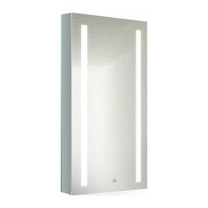 """15"""" x 30"""" LED Medicine Cabinet With DeFog, Dimmer, 15""""x30"""", Left"""