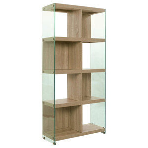 Nancy Glass and Wood Bookcase