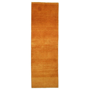 Gabbeh Persian Rug, Hand-Knotted Modern, 237x75 cm