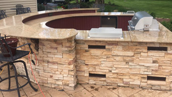Outdoor Kitchen Stone Refinishing