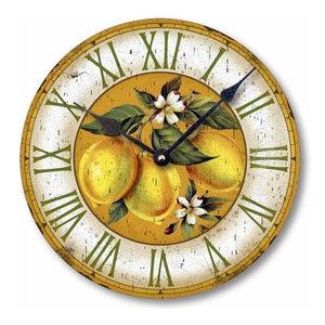 Vintage-Style Lemons Clock, 12 Inch Diameter