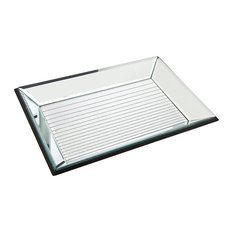 8x12 Silver Gradient Lines Tray Frame
