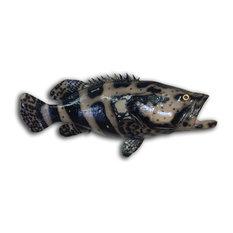 """35"""" Goliath Grouper Half Mount Fish Replica"""