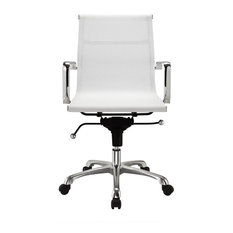 hampton modern mesh midback rolling chair white office chairs