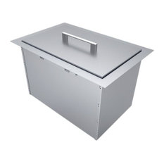 "SUNSTONE - Over/Under 14""x12"" H8 Single Basin Insulated Wall Ice Chest With Cover - Grill Tools & Accessories"