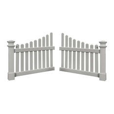 """45""""x49.5"""" Cottage Picket Wings, Set of 2"""
