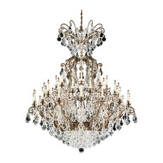 Versailles 41-Light Chandelier in Etruscan Gold With Clear Heritage Crystal