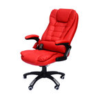 HomCom Executive Ergonomic Heated Vibrating Massaging Office Chair, Red