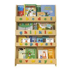 Children's Alphabet Bookcase, Natural