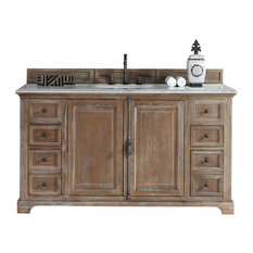 "60"" Vanity Cabinet, Driftwood, No Counter Top"