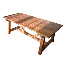 Reclaimed Wood Trestle Table   Dining Tables