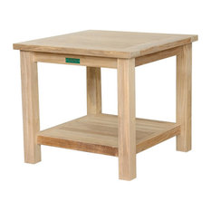 "22"" Square 2-Tier Side Table"