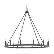 Capital Lighting 4912BI-000 Pearson 12-Light Chandelier, Black Iron