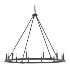 Pearson 12-Light Chandelier, Black Iron