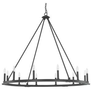 Capital Lighting 4912BI-000 Pearson 12-Light Chandelier, Black Iron