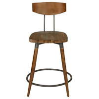 """INK+IVY Frazier Counter Stool 24"""" With Back"""