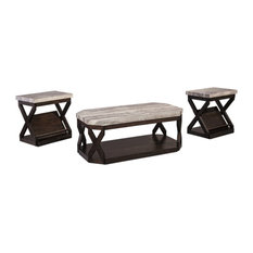 Radilyn Contemporary Grayish Brown Occasional Table Set